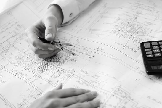 Zeichnung eines Architekten